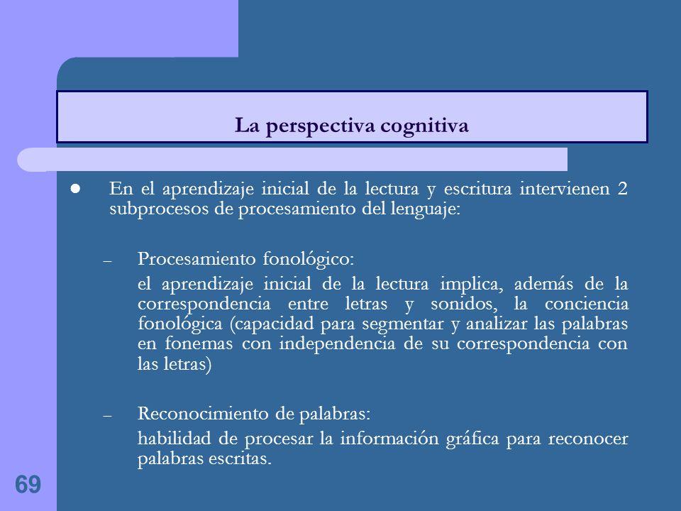 La perspectiva cognitiva