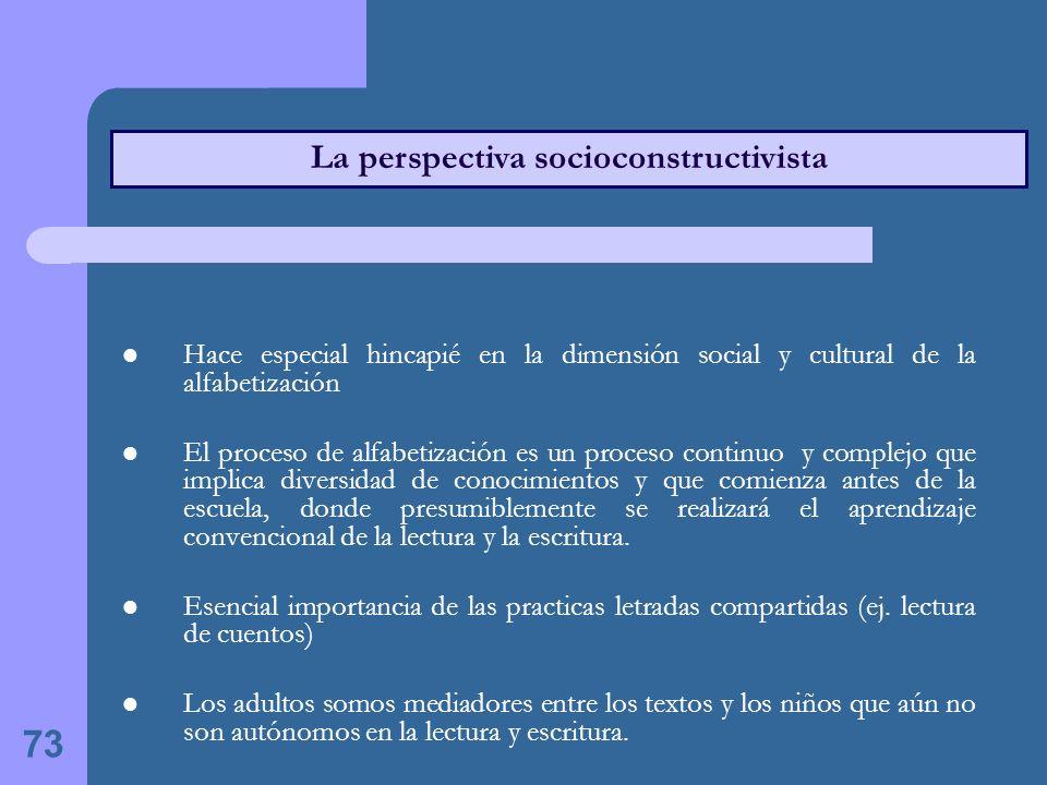 La perspectiva socioconstructivista
