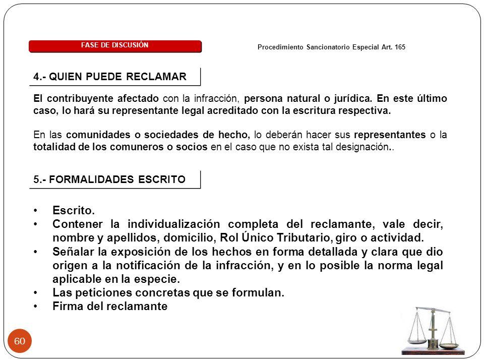 Procedimiento Sancionatorio Especial Art. 165