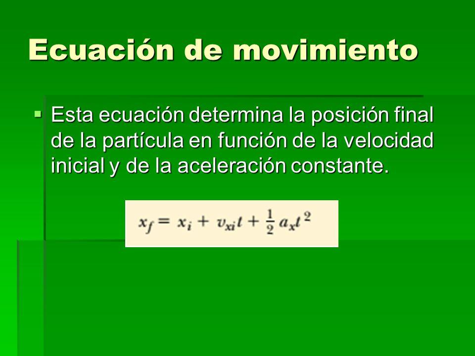Ecuación de movimiento