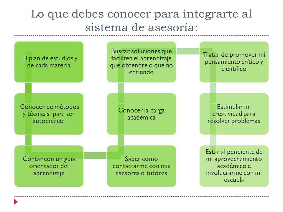 Lo que debes conocer para integrarte al sistema de asesoría:
