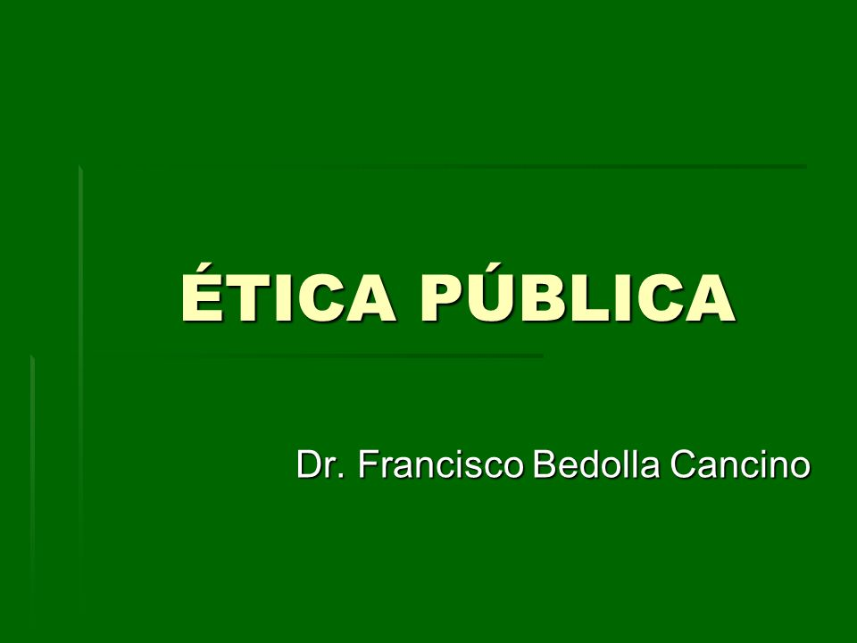 Dr. Francisco Bedolla Cancino