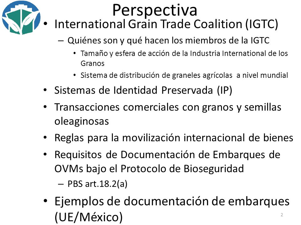 Perspectiva International Grain Trade Coalition (IGTC)