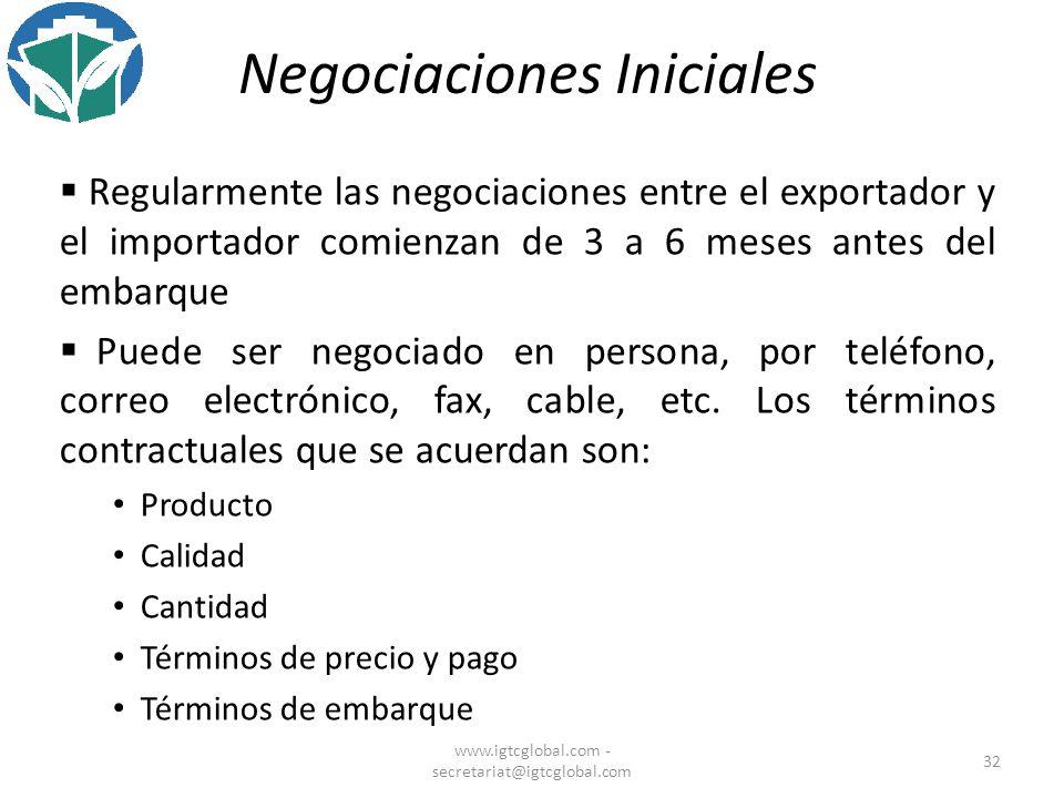 Negociaciones Iniciales