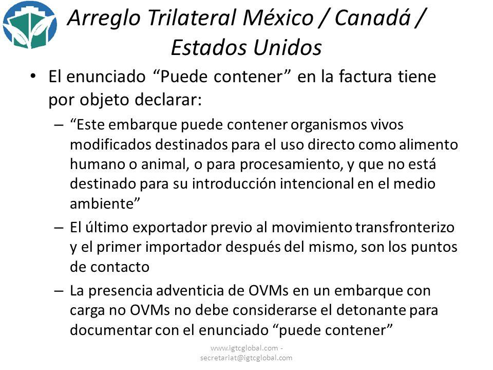 Arreglo Trilateral México / Canadá / Estados Unidos