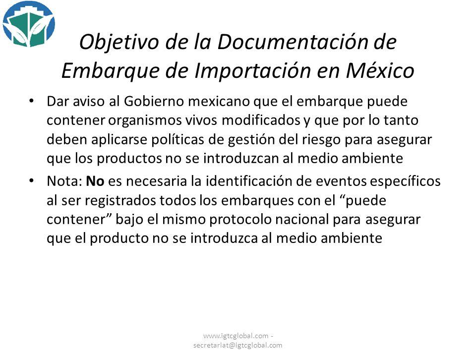 Objetivo de la Documentación de Embarque de Importación en México