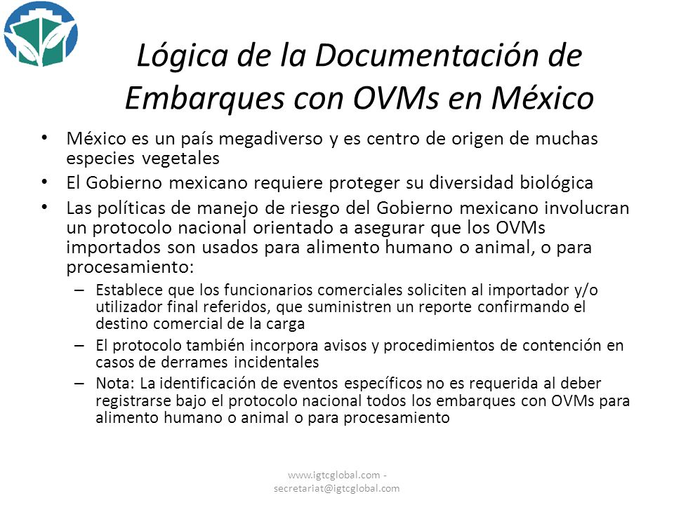 Lógica de la Documentación de Embarques con OVMs en México