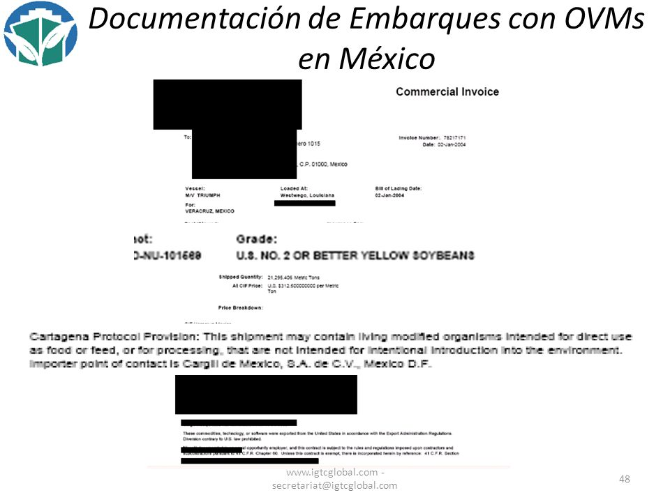 Documentación de Embarques con OVMs en México