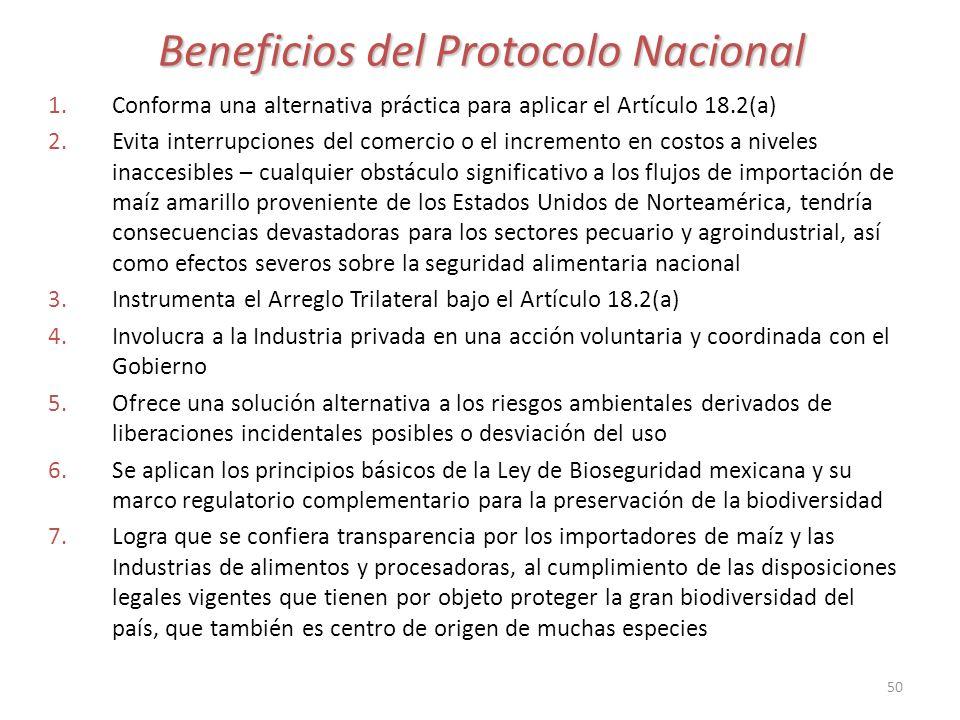 Beneficios del Protocolo Nacional