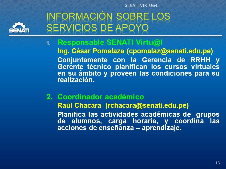 Información sobre los servicios de apoyo