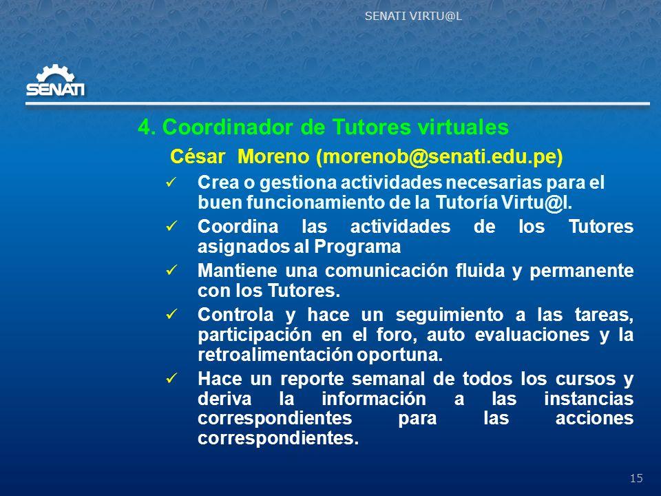 4. Coordinador de Tutores virtuales