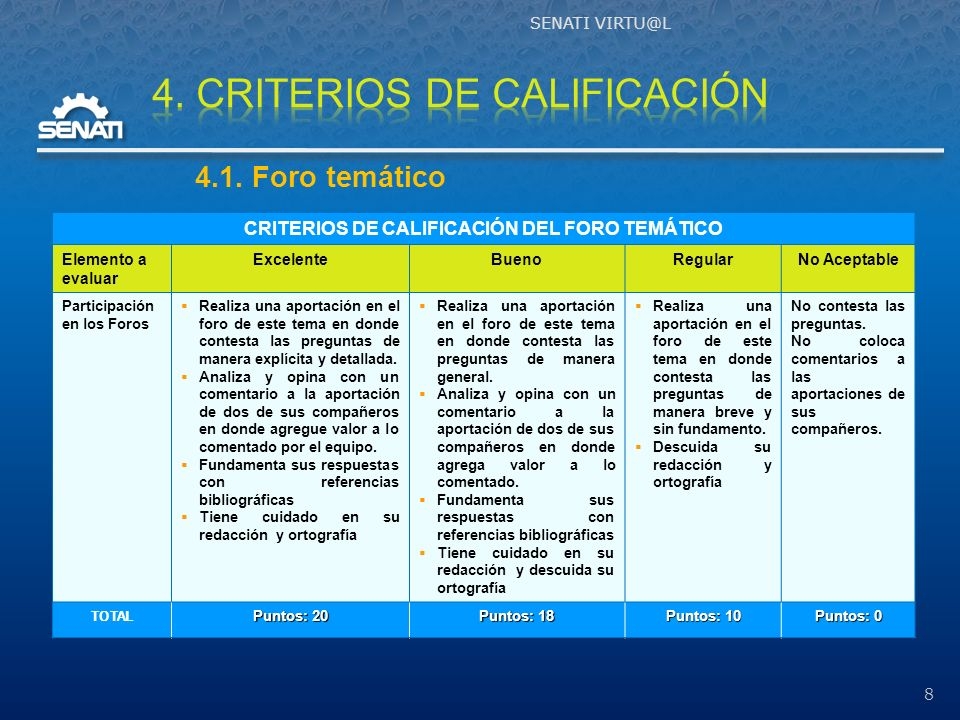4. CRITERIOS DE CALIFICACIÓN