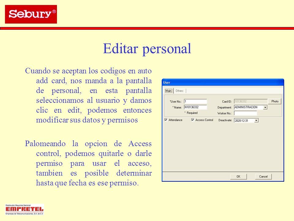 Editar personal