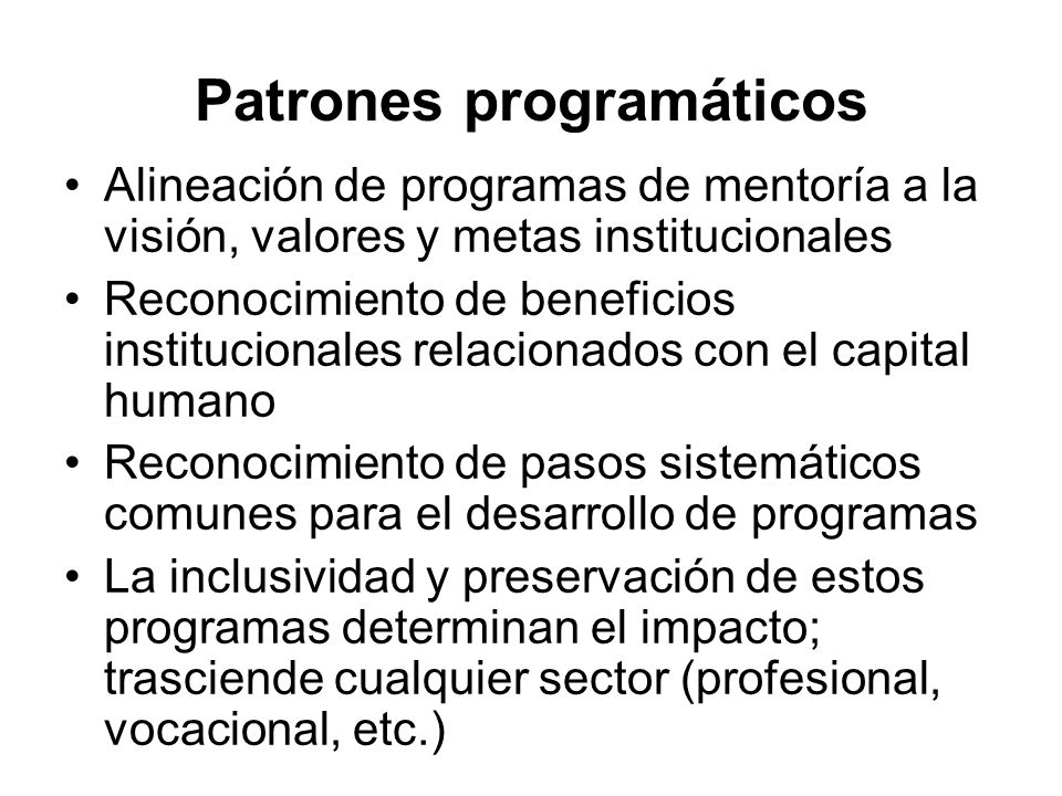 Patrones programáticos
