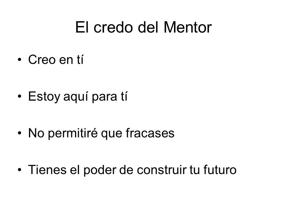 El credo del Mentor Creo en tí Estoy aquí para tí