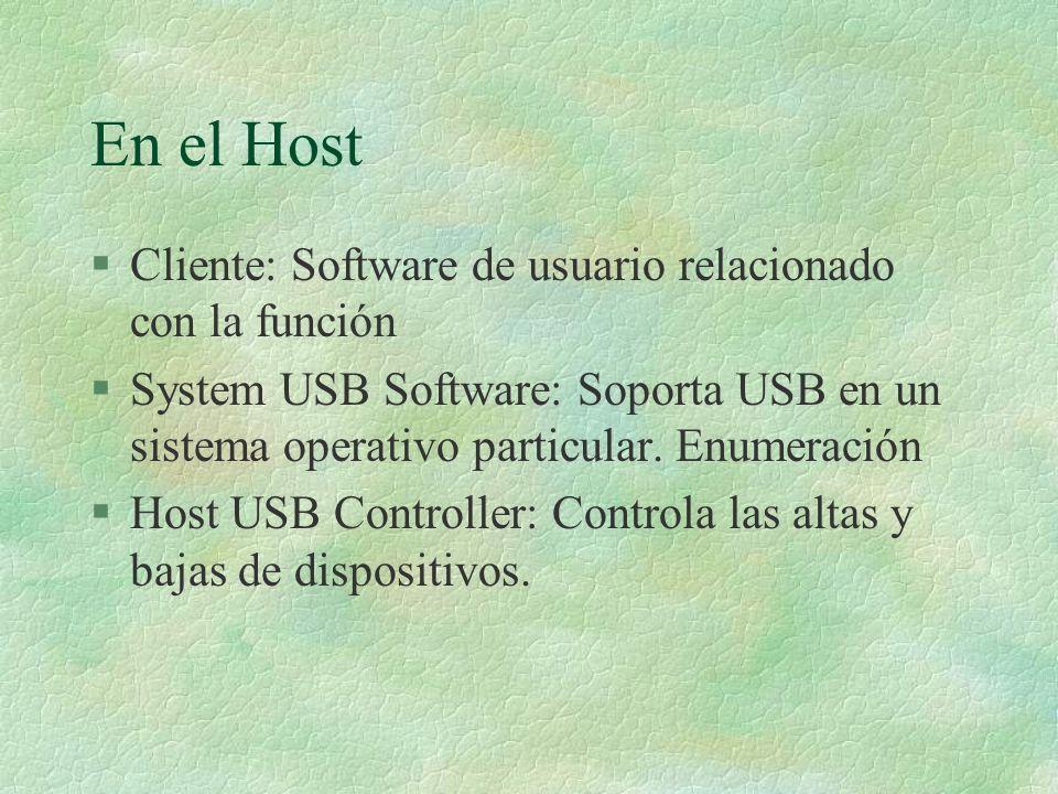 En el Host Cliente: Software de usuario relacionado con la función