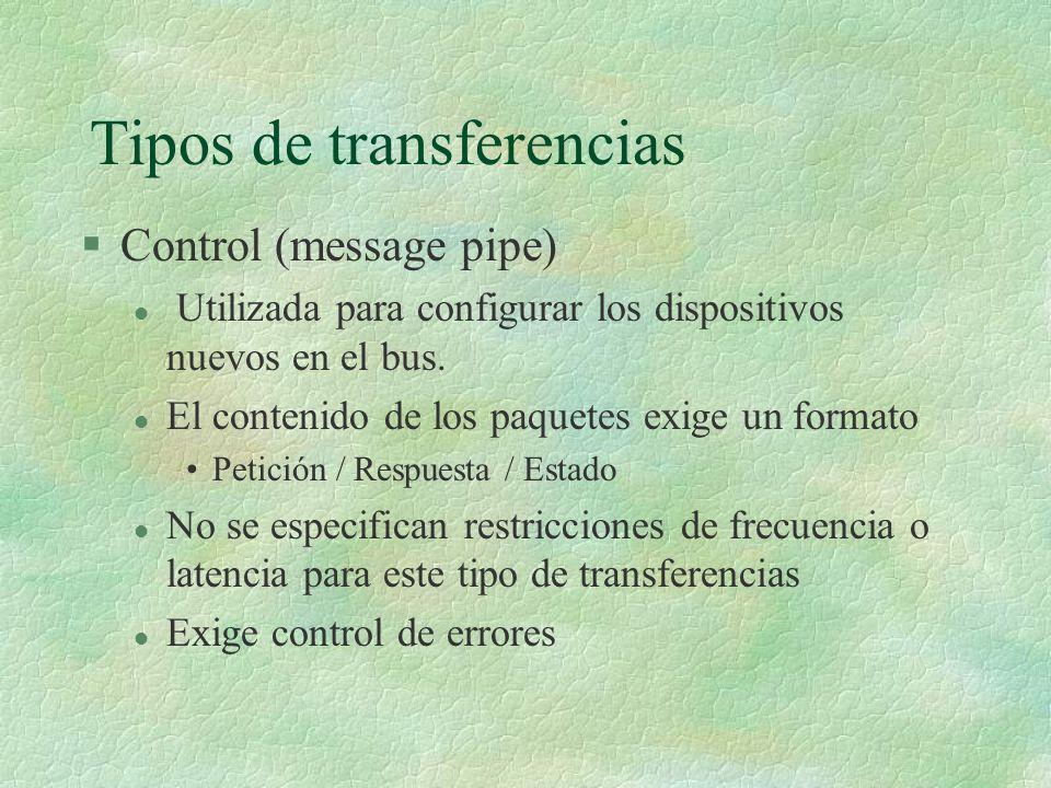 Tipos de transferencias