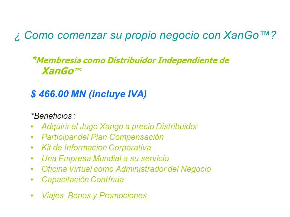 ¿ Como comenzar su propio negocio con XanGo™