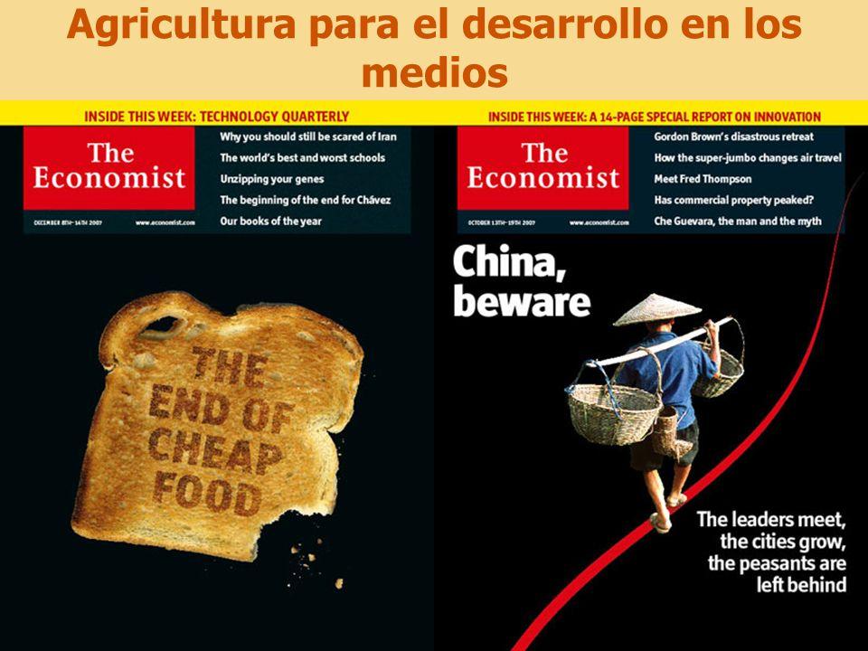Agricultura para el desarrollo en los medios