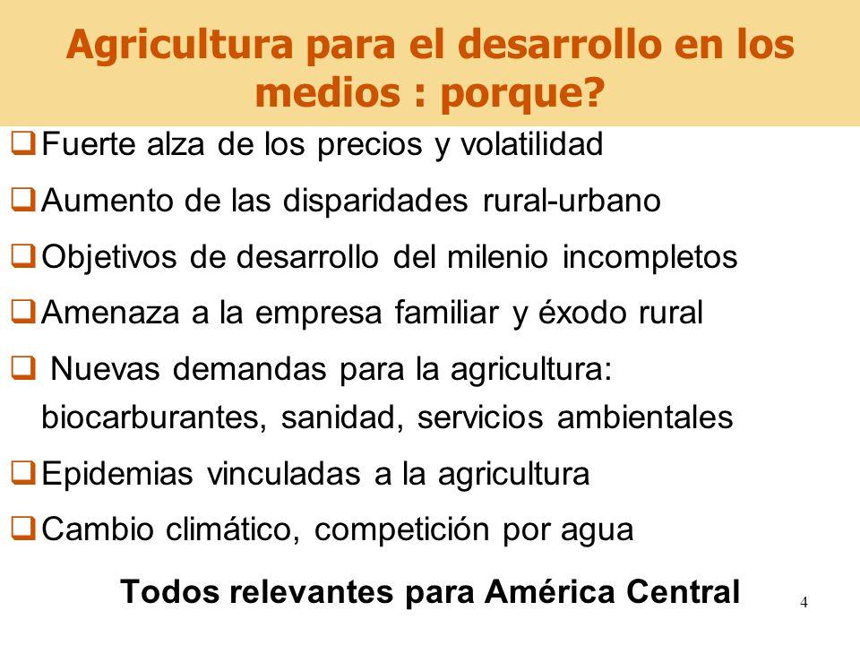 Agricultura para el desarrollo en los medios : porque