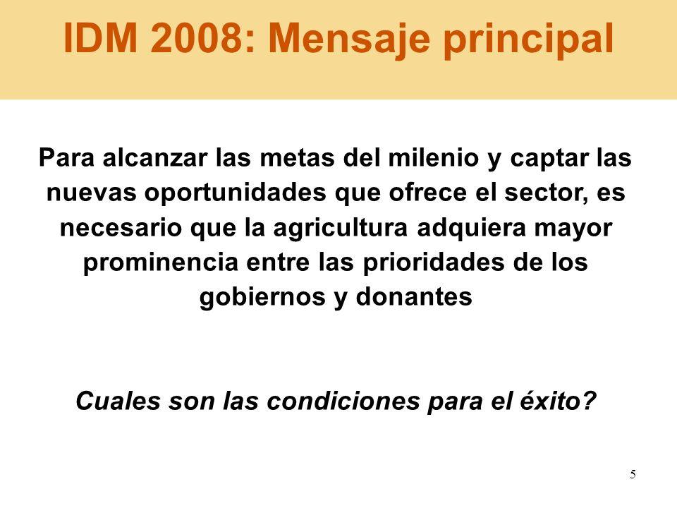 IDM 2008: Mensaje principal