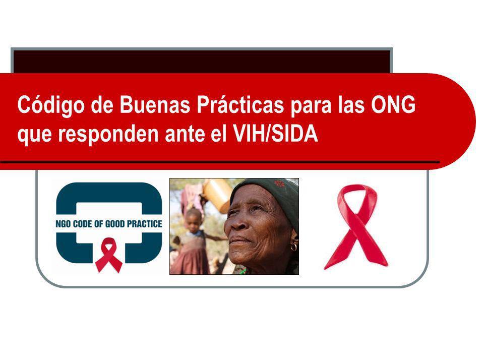 Código de Buenas Prácticas para las ONG que responden ante el VIH/SIDA