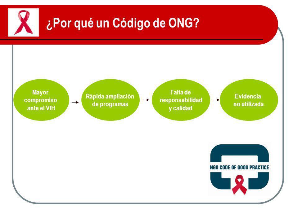 ¿Por qué un Código de ONG