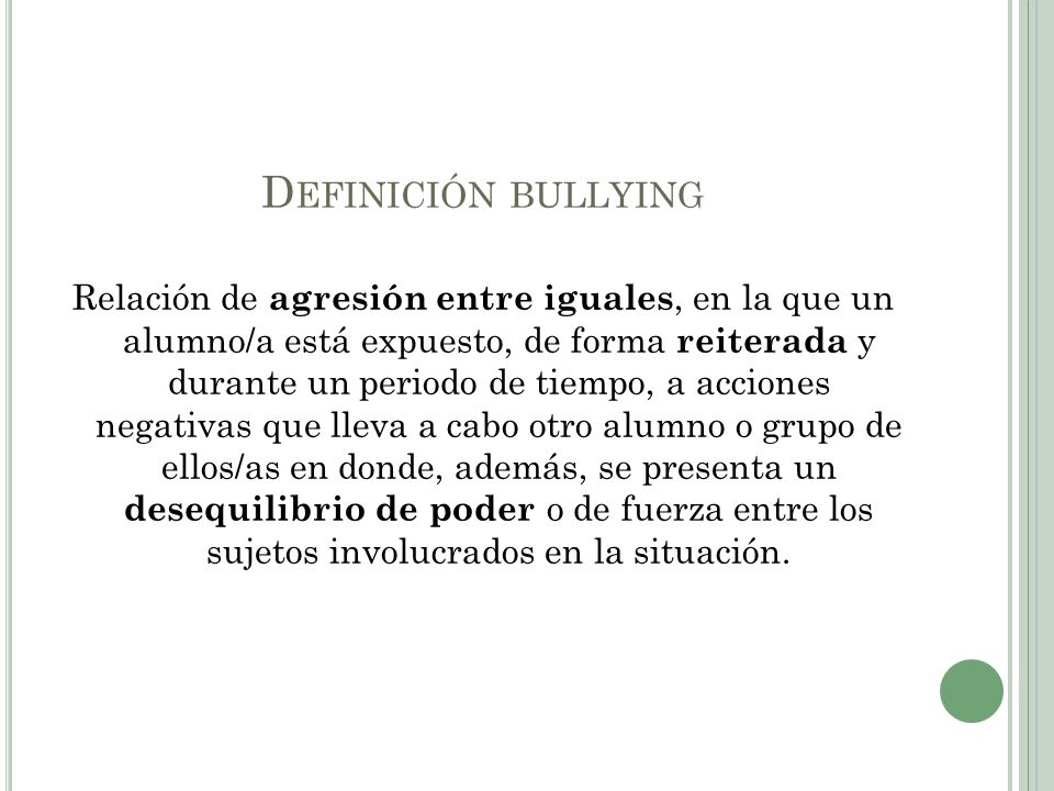 Definición bullying