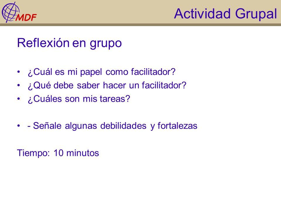 Actividad Grupal Reflexión en grupo