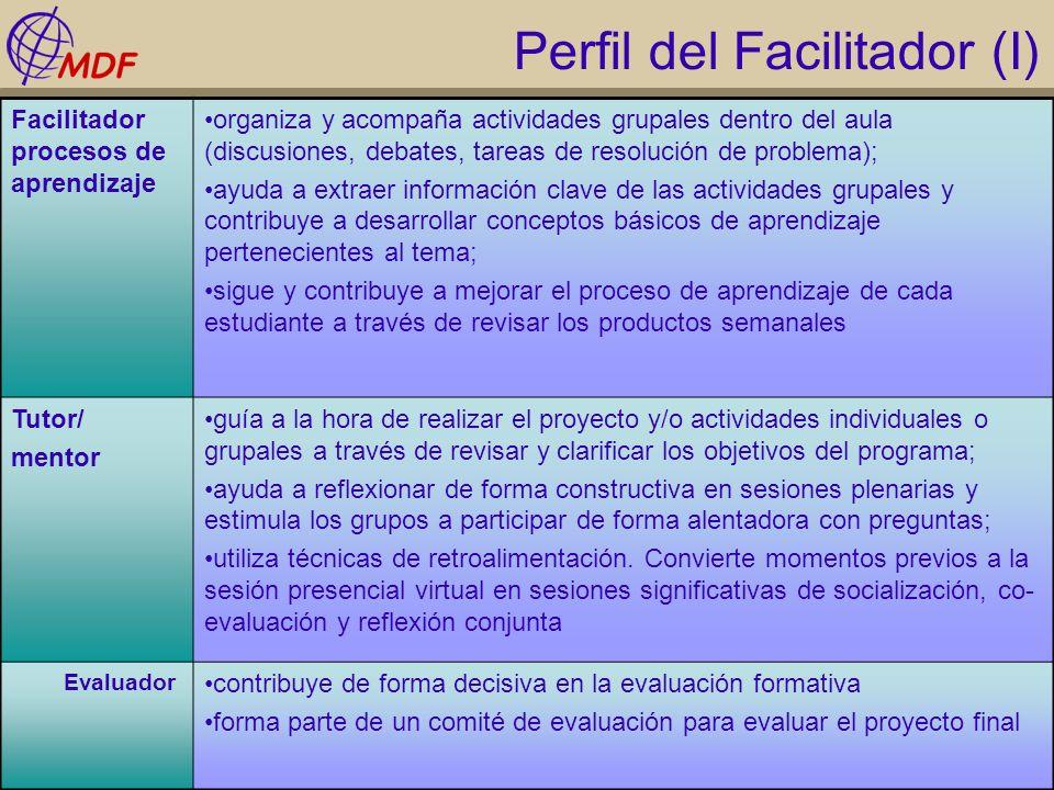 Perfil del Facilitador (I)
