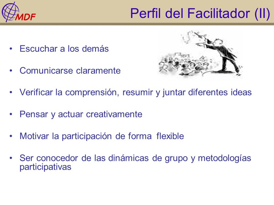 Perfil del Facilitador (II)
