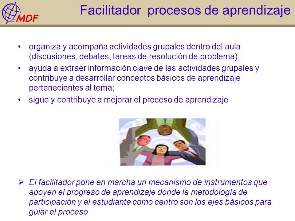 Facilitador procesos de aprendizaje