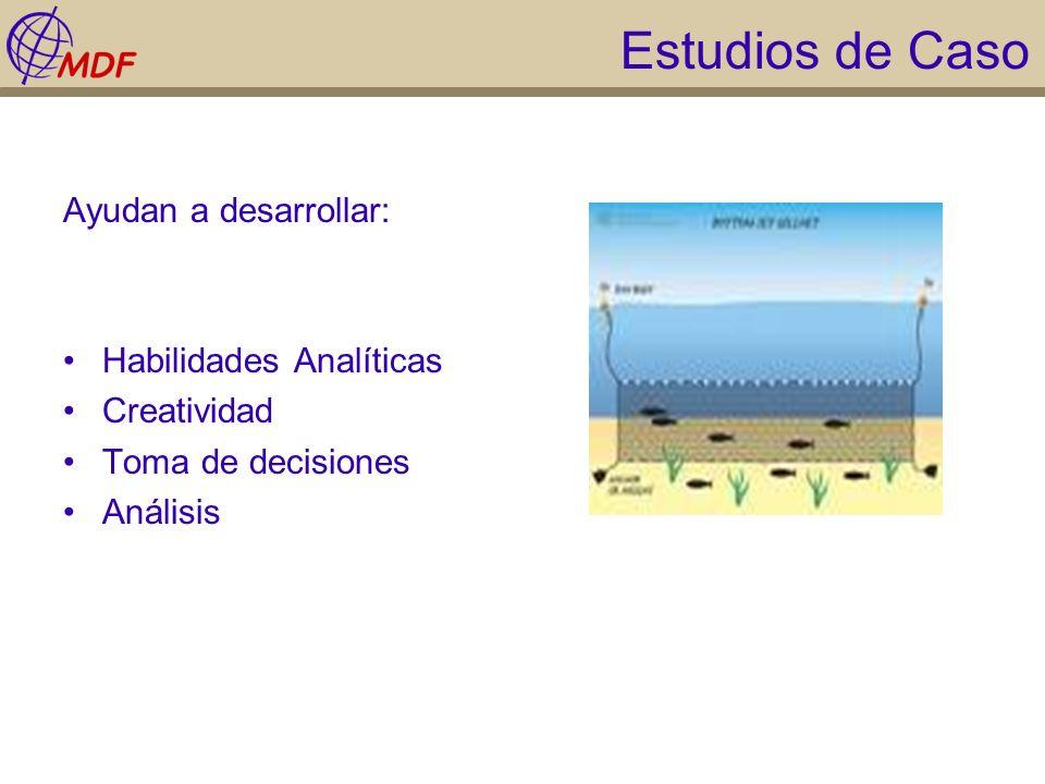 Estudios de Caso Ayudan a desarrollar: Habilidades Analíticas