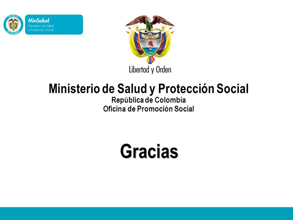 Gracias Ministerio de Salud y Protección Social República de Colombia