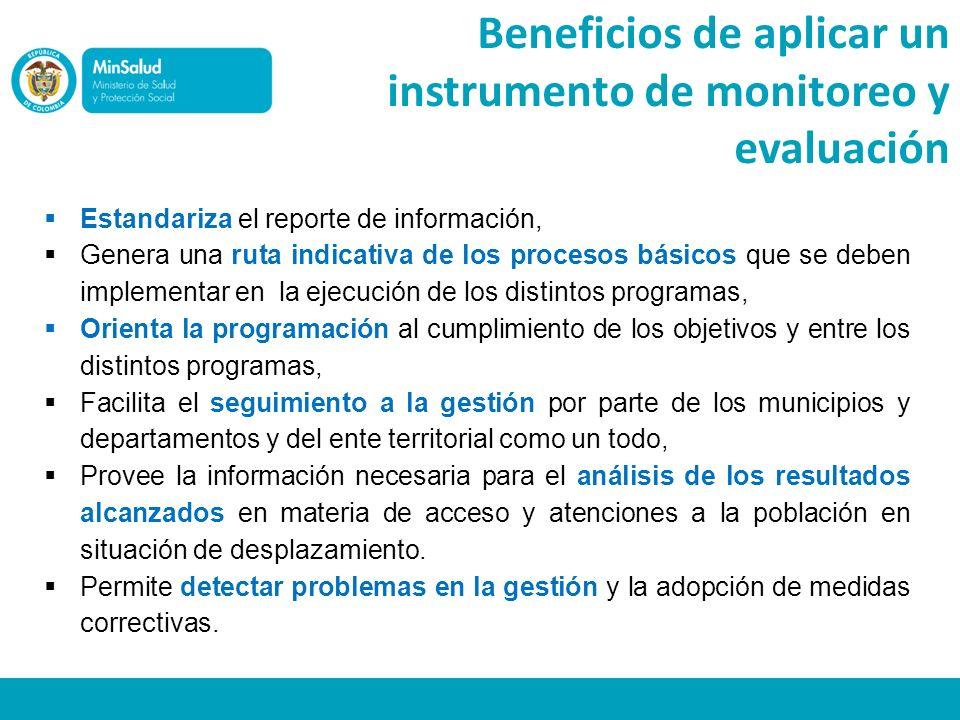 Beneficios de aplicar un instrumento de monitoreo y evaluación