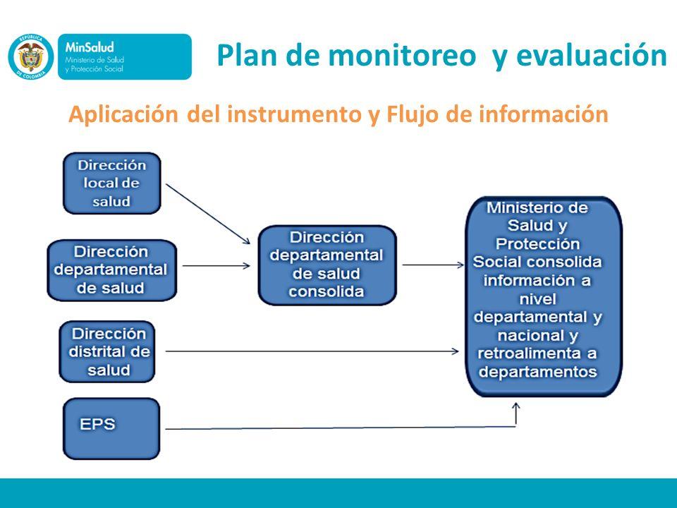 Aplicación del instrumento y Flujo de información