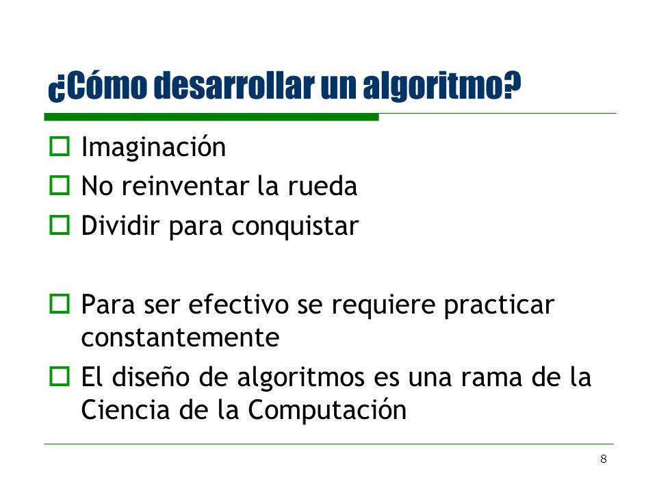 ¿Cómo desarrollar un algoritmo