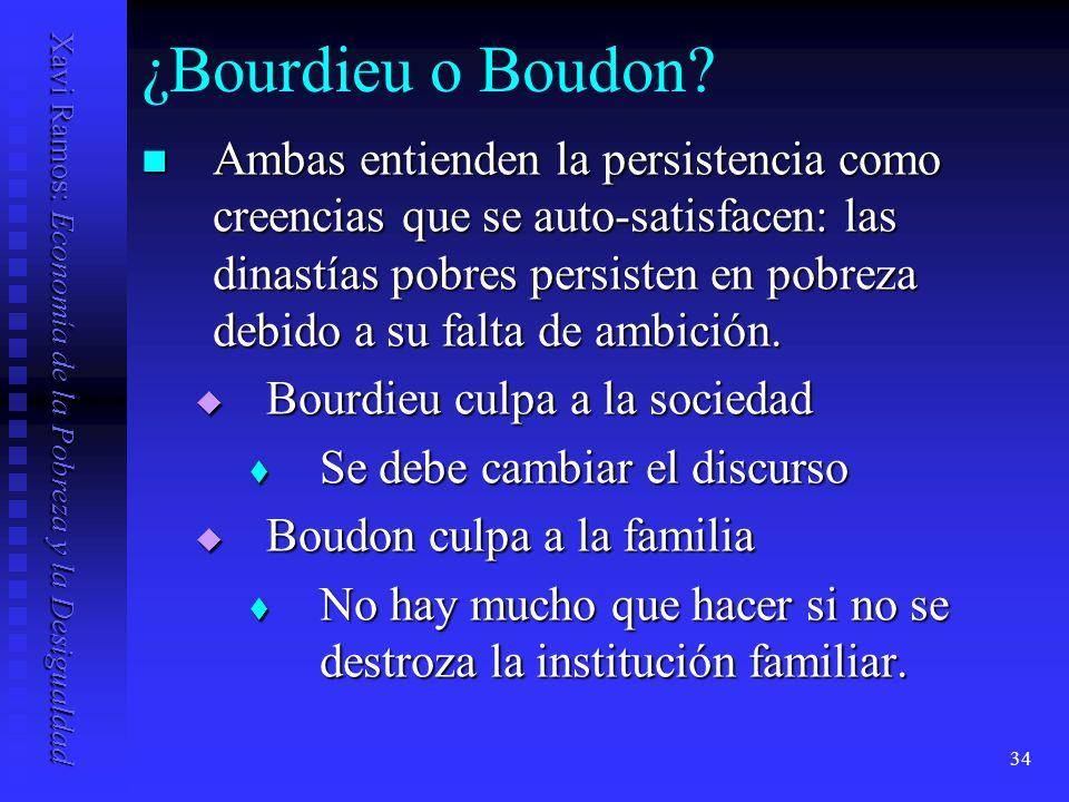 ¿Bourdieu o Boudon