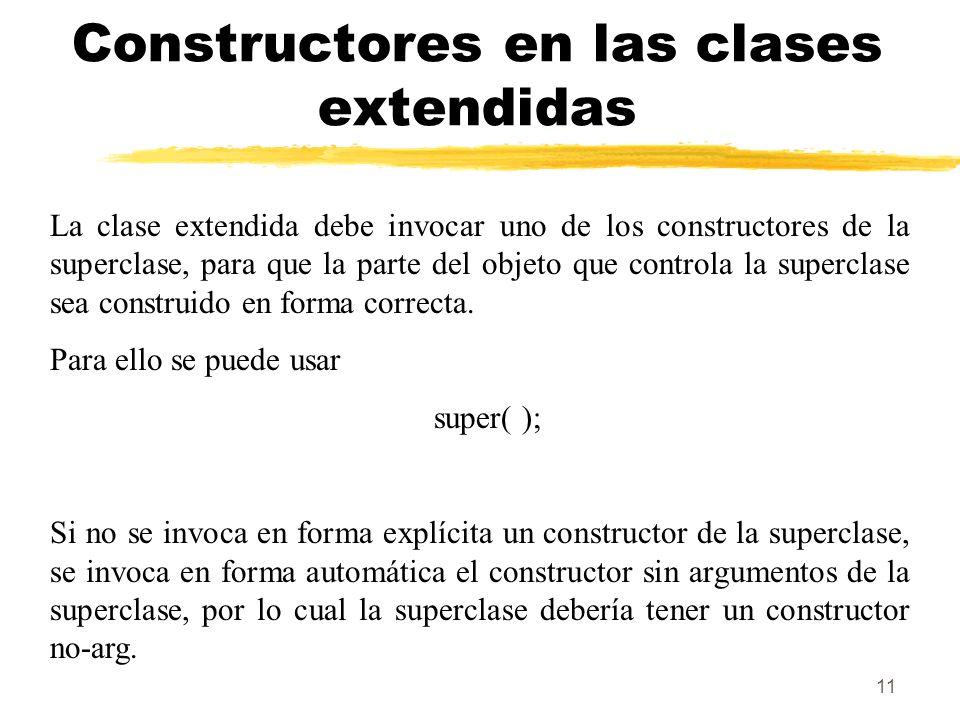 Constructores en las clases extendidas