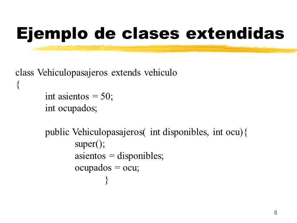 Ejemplo de clases extendidas
