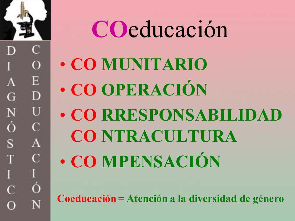 COeducación CO MUNITARIO CO OPERACIÓN