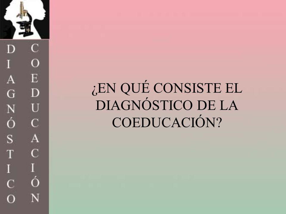 ¿EN QUÉ CONSISTE EL DIAGNÓSTICO DE LA COEDUCACIÓN