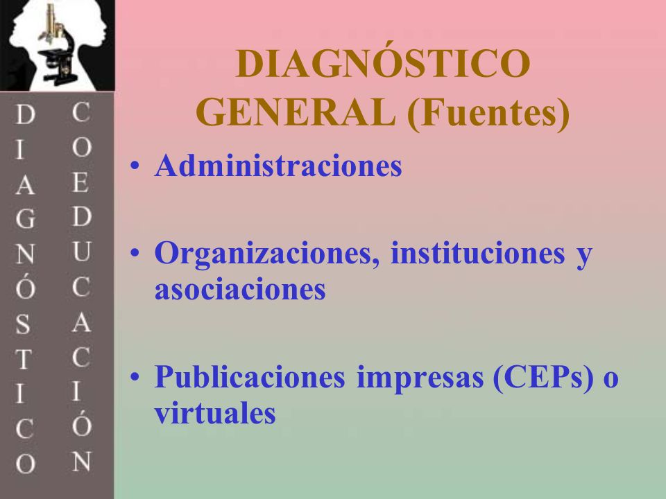 DIAGNÓSTICO GENERAL (Fuentes)