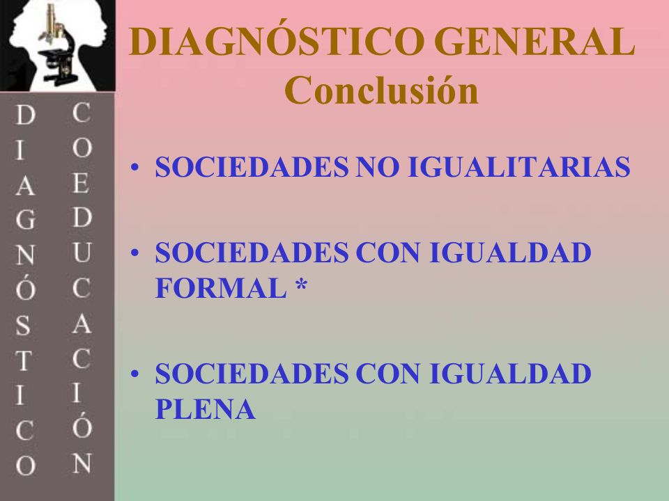 DIAGNÓSTICO GENERAL Conclusión