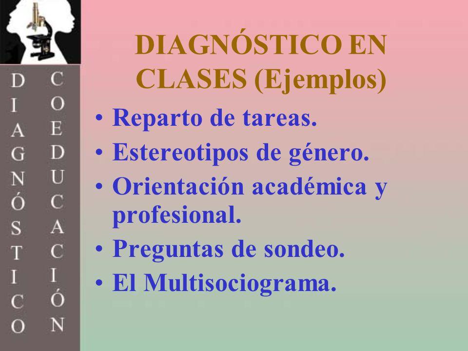 DIAGNÓSTICO EN CLASES (Ejemplos)