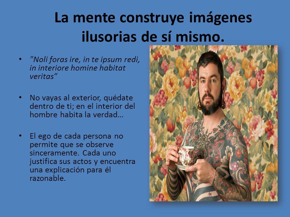 La mente construye imágenes ilusorias de sí mismo.