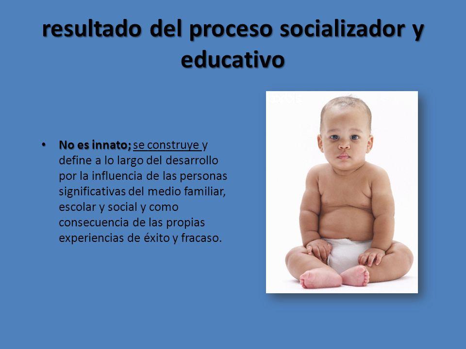 resultado del proceso socializador y educativo