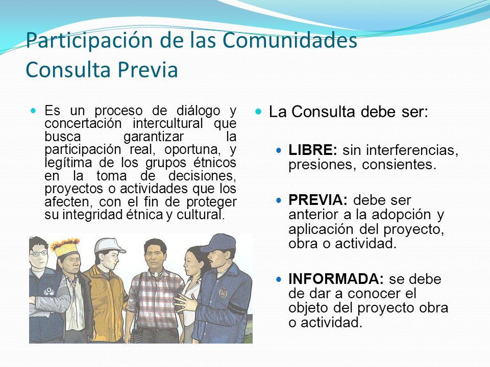 Participación de las Comunidades Consulta Previa