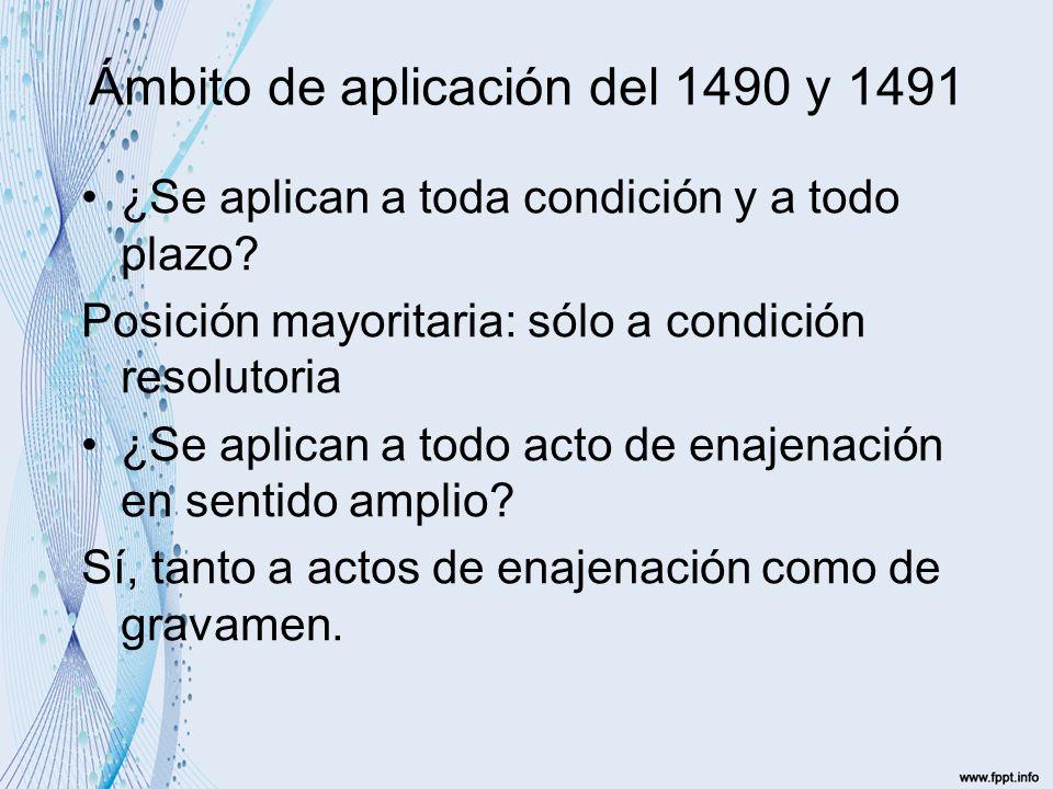 Ámbito de aplicación del 1490 y 1491