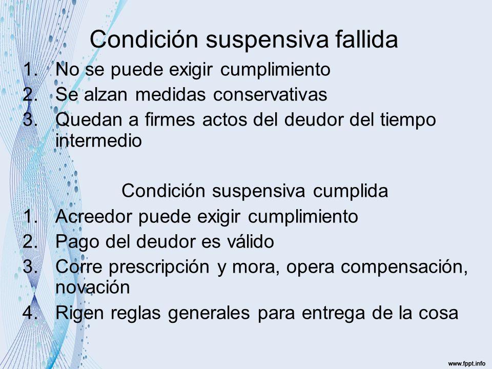 Condición suspensiva fallida
